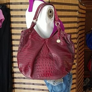Brahmin Large burgundy bag